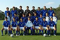 05/08/04 - Nurenberg - Germany - JAPAN OLYMPIC FOOTBAL MAN TEAM  -  <br />Picture of the JAPAN OLYMPIC FOOTBAL MEN TEAM, that will play in the Athenes 2004 OLympics games.<br />Pictures taked at the 1FC Nuremberg football training camp.<br />from left to right = N*8 Shinji ONO - N*9 TAKAMATSU Daiki - N*18/22  Takuto HAYASHI - N*1 SOGAHATA Hitoshi - N*18 KUROKAWA Takaya - N*5 ABE Yuki - N*2 TANAKA Marcus Tulio - N*3 MONIWA Teruyuki - <br />secoond line - GK trainer - Noriyuki KAWAMATA - N*13 KOMANO Yuichi - N*16 OKUBO Yoshito - N*10 MATSUI Daisuke - N*4NASU Daisuke - N*11 TANAKA Tatsuya - Coach TOMOYUKI ASHII - Physical coach Atsushi KANNO - <br />Downster - N*6 KONNO Yasuyuki - N*7 MORISAKI Koji - N*14 ISHIKAWA Naohiro - Head Coach Masakuni YAMAMOTO - N*17 HIRAYAMA Sota - N*12 KIKUCHI Naoya - N*15 TOKUNAGA Yuhei - <br />© Gabriel Piko / Piko-Press