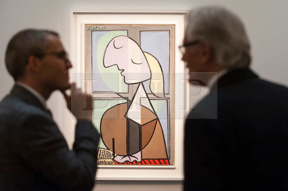 © Licensed to London News Pictures. 14/06/2018. LONDON, UK. ''Buste De Femme De Profil (Femme Écrivant)'' by Pablo Picasso, (Est. in the region of £33,000,000). Preview of Impressionist & Modern and Contemporary art sales, which will take place at Sotheby's New Bond Street on 19 and 26 June 2018 respectively.  Photo credit: Stephen Chung/LNP