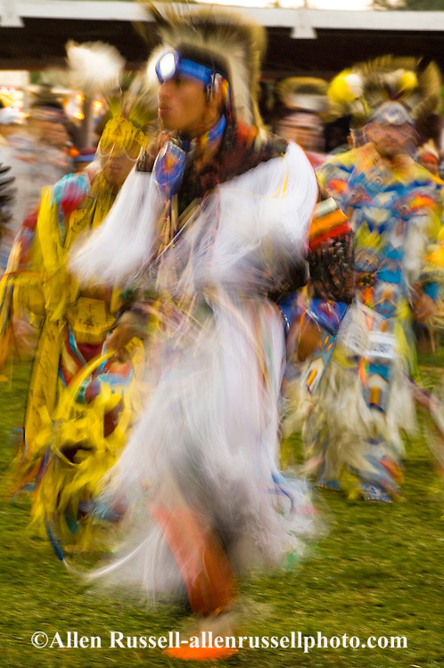 Crow Fancy Dancer, Crow Fair powwow, Crow Indian Reservation, Montana