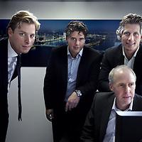Nederland, Zwijndrecht , 9 september 2011..Peter Voskuijl, Joep Vink (PWC), Wim Vermeulen en Stefan Bolt (PWC).Foto:Jean-Pierre Jans