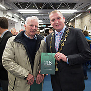 08/12/2015                <br /> Limerick City & County Council launches Ireland 2016 Centenary Programme<br /> <br /> An extensive programme of events across the seven programme strands of the Ireland 2016 Centenary Programme was launched at the Granary Library, Michael Street, Limerick, last night (Monday, 7 December 2015) by Cllr. Liam Galvin, Mayor of the City and County of Limerick.<br /> <br /> Led by Limerick City & County Council and under the guidance of the local 1916 Co-ordinator, the programme is the outcome of consultations with interested local groups, organisations and individuals who were invited to participate in the planning and implementation of events and initiatives during 2016.  <br /> <br /> Pictured at the event were, Michael Flynn, Newcastlewest and Mayor of Limerick Cllr. Liam Galvin. Picture: Alan Place