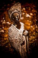 Zimsculpt at Van Dusen Botanical Garden: Ambuya (Grandmother) - springstone sculpture by Jim Sephani (original sculpture available at www.zimsculpt.com)