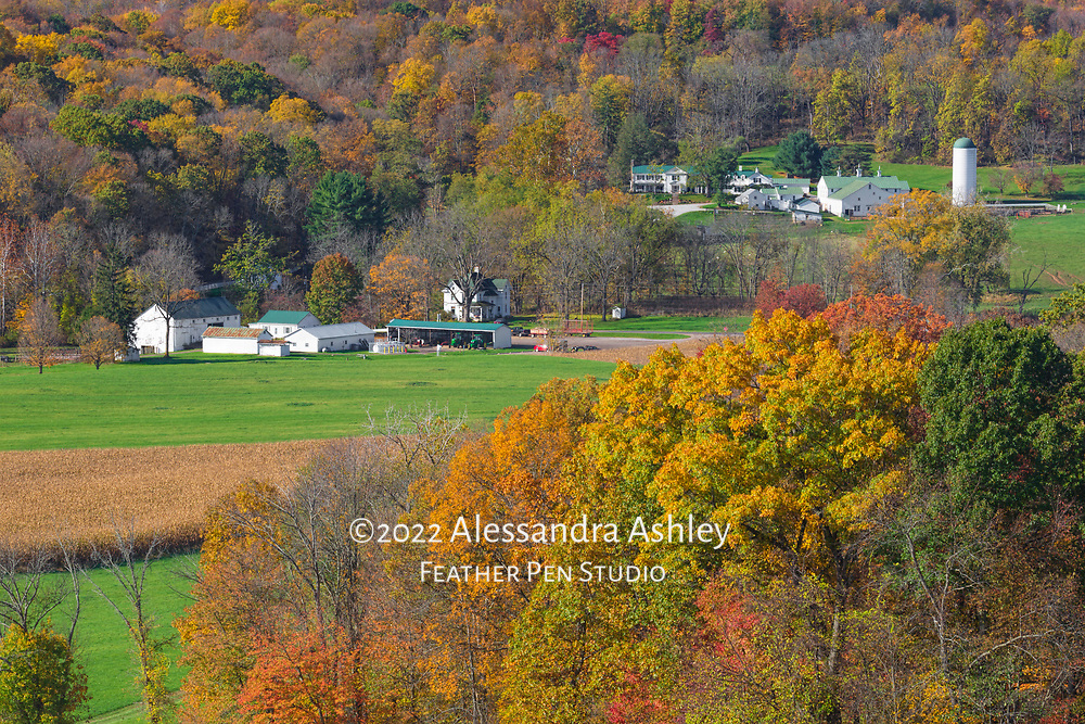 Central Ohio's Malabar Farm State Park as viewed from Mt. Jeez. Malabar preserves the legacy of Pulitzer prize-winning author Louis Bromfield in the areas of conservation, sustainable agriculture and the arts.