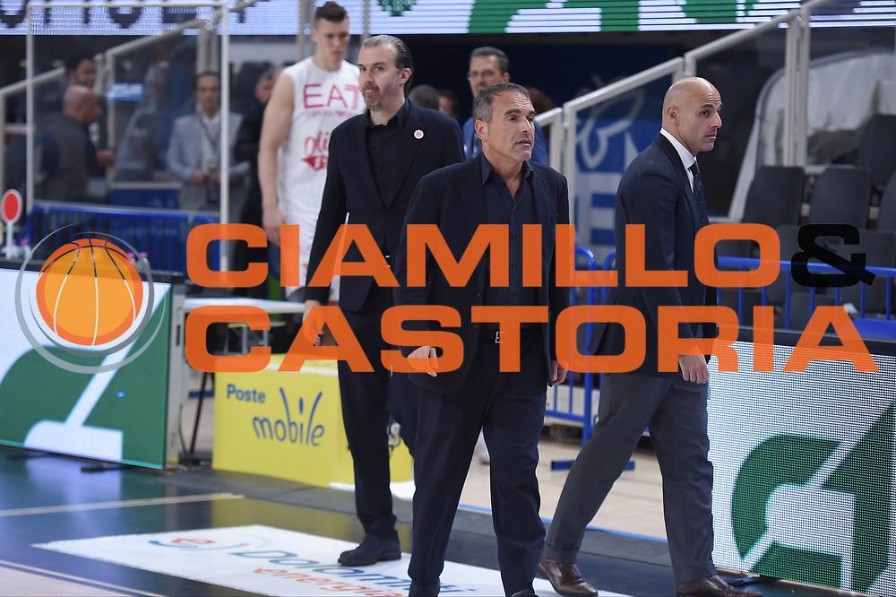 Claudio Limardi,  Marco Aloi <br /> Dolomiti Energia Trento - EA7 Emporio Armani Playoff Finale gara 6<br /> Legabasket serieA 2017-2018<br /> Trento 15/06/2018<br /> Foto GiulioCiamillo/Ciamillo-Castoria