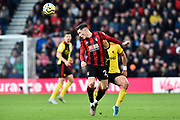 Harry Wilson (22) of AFC Bournemouth heads the ball during the Premier League match between Bournemouth and Watford at the Vitality Stadium, Bournemouth, England on 12 January 2020.