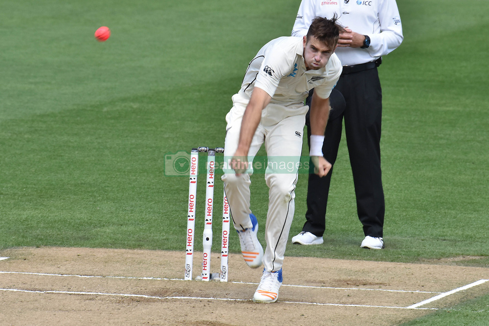 March 26, 2018 - Auckland, Auckland, New Zealand - Tim Southee of Blackcaps is in action  during Day Five of the First Test match between New Zealand and England at Eden Park in Auckland on Mar 26, 2018. (Credit Image: © Shirley Kwok/Pacific Press via ZUMA Wire)