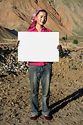 Ma Xiao Lian - 19 Yrs.<br /> Farmer.<br /> Qinghai Province.<br /> <br /> (Illiterate) 'My husband and I want to become migrant labourers so we can work hard to make ourselves and our parents happy'..