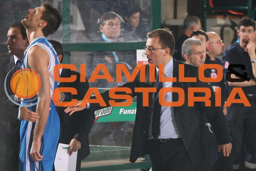 DESCRIZIONE : Ferrara Lega A2 2007-08 Final Four Coppa Italia Carife Ferrara Banco di Sardegna Sassari<br /> GIOCATORE : Demis Cavina Luigi Dordei<br /> SQUADRA : Banco di Sardegna Sassari<br /> EVENTO : Campionato Lega A2 2007-2008 <br /> GARA : Carife Ferrara Banco di Sardegna Sassari<br /> DATA : 01/03/2008 <br /> CATEGORIA : <br /> SPORT : Pallacanestro <br /> AUTORE : Agenzia Ciamillo-Castoria/M.Marchi