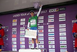 Marianne Vos (NED) of WM3 Pro Cycling Team celebrates winning points race after Stage 3 of the Ladies Tour of Norway - a 156.6 km road race, between Svinesund (SE) and Halden on August 20, 2017, in Ostfold, Norway. (Photo by Balint Hamvas/Velofocus.com)