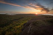 An autumn sunset from Brockway Mountain <br />
