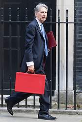Downing Street, London, September 13th 2016. Chancellor of the Exchequer Philip Hammond arrives for the weekly cabinet meeting at Downing Street.