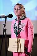 Emily Neal of Chesapeake Middle School waits for her next word during the Southeast Ohio Regional Spelling Bee Saturday, March 16, 2013. The Regional Spelling Bee was sponsored by Ohio University's Scripps College of Communication.