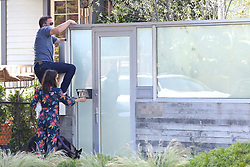 EXCLUSIVE: Ben Affleck and Ana de Armas arrive home after walking their dogs only to be locked out and Ben has to jump the fence to get in. 07 May 2020 Pictured: Ben Affleck and Ana de Armas arrive home after walking their dogs only to be locked out and Ben has to jump the fence to get in. Photo credit: P&P / MEGA TheMegaAgency.com +1 888 505 6342