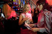 Maria Hatzistefanis; Bella Freud, Rodial Beautiful Awards. Sanderson Hotel. 1 February 2011. -DO NOT ARCHIVE-© Copyright Photograph by Dafydd Jones. 248 Clapham Rd. London SW9 0PZ. Tel 0207 820 0771. www.dafjones.com.