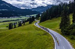 12.07.2019, Kitzbühel, AUT, Ö-Tour, Österreich Radrundfahrt, 6. Etappe, von Kitzbühel nach Kitzbüheler Horn (116,7 km), im Bild das Peloton bei der Huber Höhe // the Peloton at the Huber Höhe during 6th stage from Kitzbühel to Kitzbüheler Horn (116,7 km) of the 2019 Tour of Austria. Kitzbühel, Austria on 2019/07/12. EXPA Pictures © 2019, PhotoCredit: EXPA/ JFK
