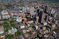Aerial View, Downtown Denver & Civic Center Park featuring Colorado State Capitol and City Hall