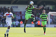 Forest Green Rovers Dale Bennett(6) heads the ball forward during the Vanarama National League Play Off second leg match between Forest Green Rovers and Dagenham and Redbridge at the New Lawn, Forest Green, United Kingdom on 7 May 2017. Photo by Shane Healey.