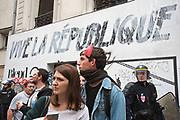 France, Paris, 15 September 2016. Protest march for repeal of the controversial labor law.