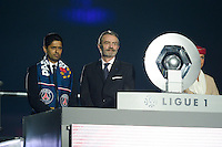 Nasser Al Khelaifi / Frederic Thiriez  - 23.05.2015 - PSG / Reims - 38eme journee de Ligue 1<br />Photo : Andre Ferreira / Icon Sport