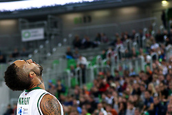 Zack Wright of Union Olimpija during basketball match between KK Union Olimpija Ljubljana and Telekom Baskets Bonn (GER) in Round 3 of EuroCup 2015/16, on October 28, 2015 in Arena Stozice, Ljubljana, Slovenia. Photo by Matic Klansek Velej / Sportida.com