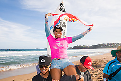Vahine Fierro of Polynesia wins the 2018 Jeep World Junior Championship at Kiama, NSW, Australia.