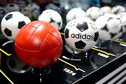 Official match balls for FIFA World Cups through history on June 30, 2010 at Adidas central, Nelson Mandela Square in Sandton Convention Centre in Johannesburg. (Photo by Vid Ponikvar / Sportida)