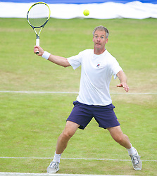 LIVERPOOL, ENGLAND - Saturday, June 22, 2013: Anders Jarryd during Day Four of the Liverpool Hope University International Tennis Tournament at Calderstones Park. (Pic by David Rawcliffe/Propaganda)