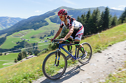 04.08.2015, Zwölferkogel, Saalbach Hinterglemm, AUT, ÖSV, Medientermin mit ÖSV Abfahrerinnen, im Bild Stephanie Venier // during a media event with the OeSV women Downhill Team at the Zwölferkogel in Saalbach Hinterglemm, Austria on 2015/08/04. EXPA Pictures © 2015, PhotoCredit: EXPA/ JFK