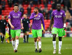 Milan Djuric, Eros Pisano and Famara Diedhiou of Bristol City - Mandatory by-line: Robbie Stephenson/JMP - 30/03/2018 - FOOTBALL - Oakwell Stadium - Barnsley, England - Barnsley v Bristol City - Sky Bet Championship