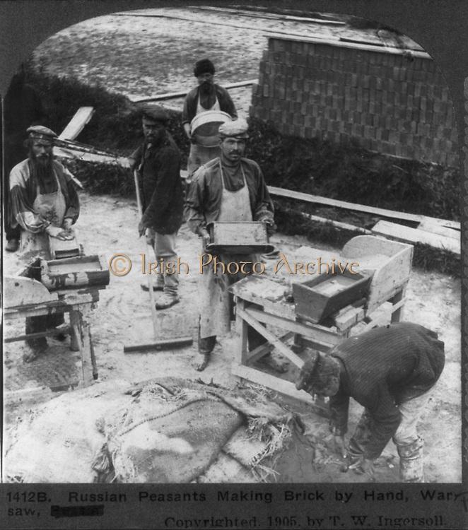 Russian Brick makers circa 1905