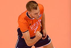20150619 NED: World League Nederland - Portugal, Groningen<br /> De Nederlandse volleyballers hebben in de World League ook hun eerste duel met Portugal met 3-0 gewonnen / Gijs Jorna #7
