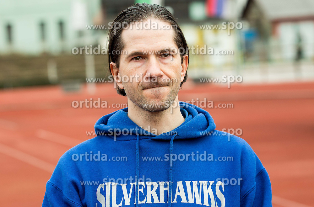 Uros Valant, president of Silverhawks during American football match between Ljubljana Silverhawks (SLO) and Project Spielberg Graz Giants (AUT) in Round #1 of AFL (Austrian Football League) League, on March 26, 2016 in Sportni park Ljubljana, Slovenia. Photo by Vid Ponikvar / Sportida