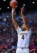SAN DIEGO, CA - MARCH 16:  Auburn Tigers forward Chuma Okeke (4) shoots against the Charleston Cougars during a first round game of the Men's NCAA Basketball Tournament at Viejas Arena in San Diego, California. Auburn won 62-58.  (Photo by Sam Wasson)