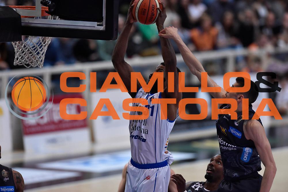 Gani Lawal<br /> Dolomiti Energia Trento - Banco di Sardegna Sassari<br /> Lega Basket Serie A 2016/2017<br /> Venezia 08/04/2017<br /> Foto Ciamillo-Castoria