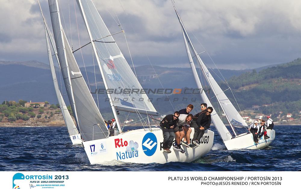 Platu 25 World Championships, Portosín , Galicia, Spain. Day 2 24-29 September 2013  ©