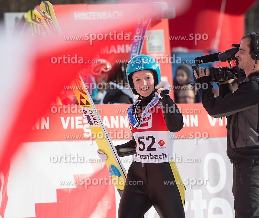 07.02.2016, Energie AG Skisprung Arena, Hinzenbach, AUT, FIS Weltcup Ski Sprung, Hinzenbach, Damen, Bewerb, im Bild 3. Platz Jacqueline Seifriedsberger (AUT) // during Ladies Skijumping Competition of FIS Skijumping World Cup at the Energie AG Skisprung Arena, Hinzenbach, Austria on 2016/02/07. EXPA Pictures © 2016, PhotoCredit: EXPA/ Reinhard Eisenbauer