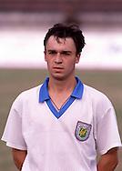12.8.1992, Daugava Stadium, Riga, Latvia.<br /> FIFA World Cup Qualifying match, Latvia v Lithuania.<br /> Aleksandrs Glazovs - Latvia