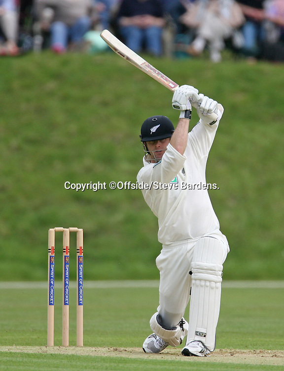 New Zealand opener, Aaron Redmond hits a boundary. MCC v New Zealand Blackcaps. Tour match. Cricket. Arundel, Sussex, England. 27 April 2008. Photo: Offside/PHOTOSPORT