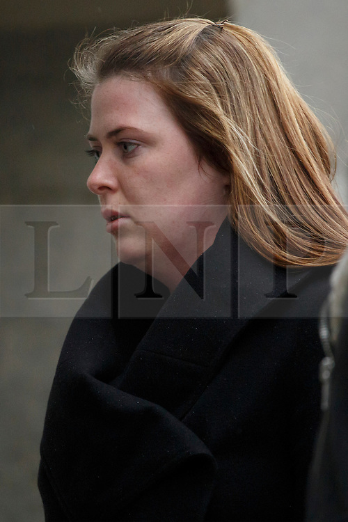 © licensed to London News Pictures. London, UK 29/11/2013. Rebecca Rigby, the widow of murdered fusilier Lee Rigby attending to the first day of the trial of Michael Adebolajo and Michael Adebowale at the Old Bailey, London. Mr Adebolajo and Mr Adebowale are charged with murdering Fusilier Lee Rigby. Photo credit: Tolga Akmen/LNP