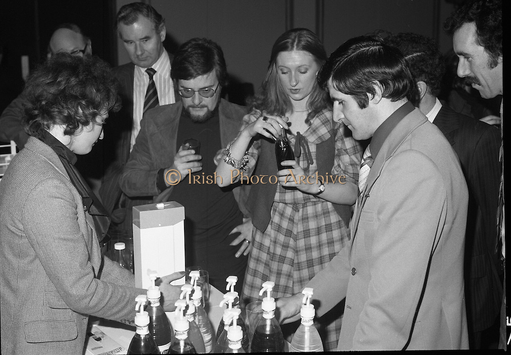 24/01/1979.01/24/1979.24th January 1979.Photograph of people trying free samples of SodaStream at the drinks launch in Dublin's Burlington Hotel.
