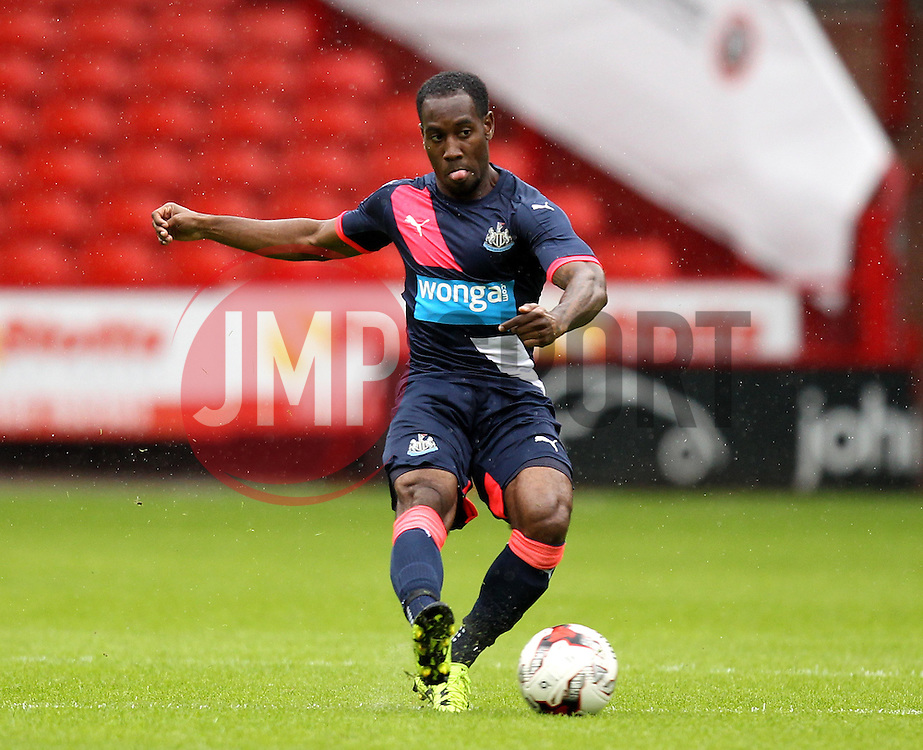 Newcastle United's Vurnon Anita passes the ball - Mandatory by-line: Robbie Stephenson/JMP - 26/07/2015 - SPORT - FOOTBALL - Sheffield,England - Bramall Lane - Sheffield United v Newcastle United - Pre-Season Friendly