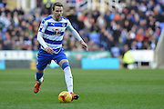 Reading's Chris Gunter moves down the wing during the Sky Bet Championship match between Reading and Bolton Wanderers at the Madejski Stadium, Reading, England on 21 November 2015. Photo by Mark Davies.