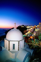 Fira, the island of Santorini, the Cyclades, Greece