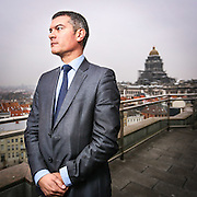 20141126 - BRUSSELS, BELGIUM: Portrait of Laurent Vrijdaghs, managing director of Regie de Batiments, a belgia institution in charge of the public buildings in Belgium  . Picture by Pablo Garrigos