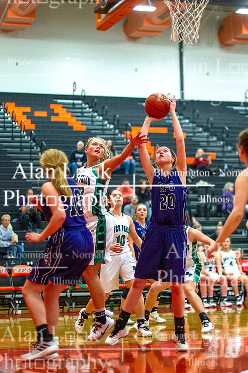 26 December 2019: State Farm Holiday Classic Coed Basketball Tournament , Normal-Bloomington Illinois<br /> <br /> El Paso Gridley Titans v Rock Falls Rockets girls basketball