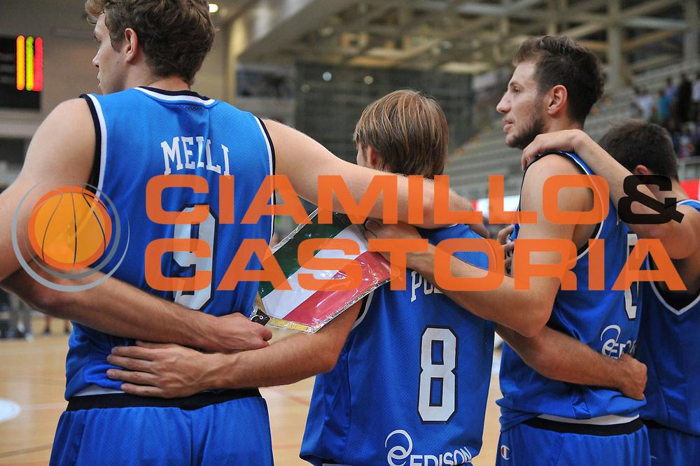 DESCRIZIONE : Trento Trentino Basket Cup Italia Polonia<br /> GIOCATORE : team italia<br /> CATEGORIA : inno nazionale<br /> SQUADRA : Nazionale Italia Maschile<br /> EVENTO :  Trento Trentino Basket Cup<br /> GARA : Italia Polonia<br /> DATA : 09/08/2013<br /> SPORT : Pallacanestro<br /> AUTORE : Agenzia Ciamillo-Castoria/M.Gregolin<br /> Galleria : FIP Nazionali 2013<br /> Fotonotizia : Trento Trentino Basket Cup Italia Polonia<br /> Predefinita :