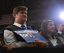 PITTSBURGH, PA - OCTOBER 25: Students listen to Vice President Joe Biden as he speaks to the crowd during a Get Out To Vote rally at Chatham University on October 25, 2016 in Pittsburgh, Pennsylvania (Photo Credit: Justin Berl)
