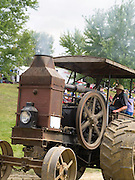 Antique steam tractors (Rumley) are on display the Rock River Thresheree near Edgerton, Wisconsin. 2 Sept 2013