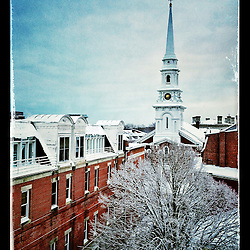 "The North Church in Portsmouth, New Hampshire's Market Square. iPhone photo - suitable for print reproduction up to 8"" x 12""."