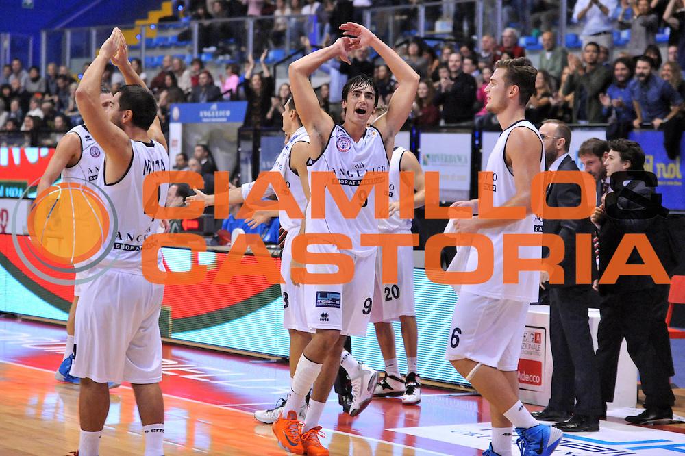 DESCRIZIONE : Biella LNP DNA Adecco Gold 2013-14 Angelico Biella Manital Torino<br /> GIOCATORE : Marco Lagana<br /> CATEGORIA : Esultanza<br /> SQUADRA : Angelico Biella<br /> EVENTO : Campionato LNP DNA Adecco Gold 2013-14<br /> GARA : Angelico Biella Manital Torino<br /> DATA : 20/10/2013<br /> SPORT : Pallacanestro<br /> AUTORE : Agenzia Ciamillo-Castoria/S.Ceretti<br /> Galleria : LNP DNA Adecco Gold 2013-2014<br /> Fotonotizia : Biella LNP DNA Adecco Gold 2013-14 Angelico Biella<br /> Predefinita :
